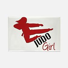Judo Girl Rectangle Magnet