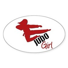 Judo Girl Oval Decal