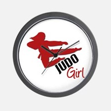 Judo Girl Wall Clock