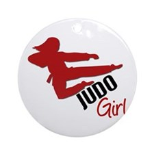 Judo Girl Ornament (Round)