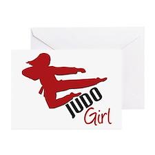 Judo Girl Greeting Cards (Pk of 10)