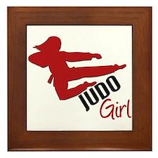 Judo Girl Framed Tile