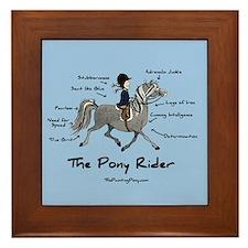 Pony Rider Equestrian Framed Tile