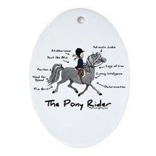 Pony Rider Equestrian Oval Ornament