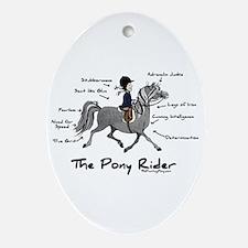 Pony Rider Equestrian Oval Ornament