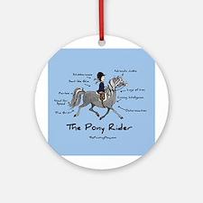 Pony Rider Equestrian Ornament (Round)