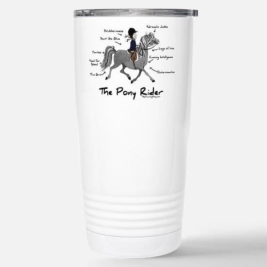 Pony Rider Equestrian Stainless Steel Travel Mug