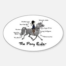 Pony Rider Equestrian Oval Decal