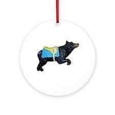 bear-carousel Ornament (Round)