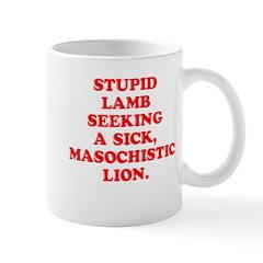 Lamb Seeks Lion Mug