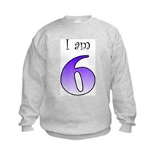 I am 6 (purple) Sweatshirt