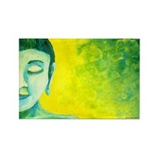 Blue Buddha Rectangle Magnet (100 pack)