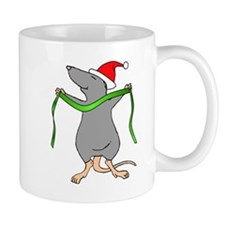 Christmas Rat Hug Mug