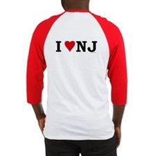 I LOVE NJ Both Sides Baseball Jersey