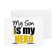 ChildhoodCancer Son Greeting Card