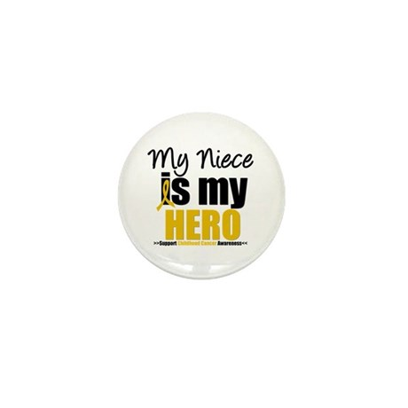 ChildhoodCancer Niece Mini Button (10 pack)