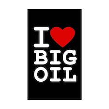 I <3 Big Oil Rectangle Decal