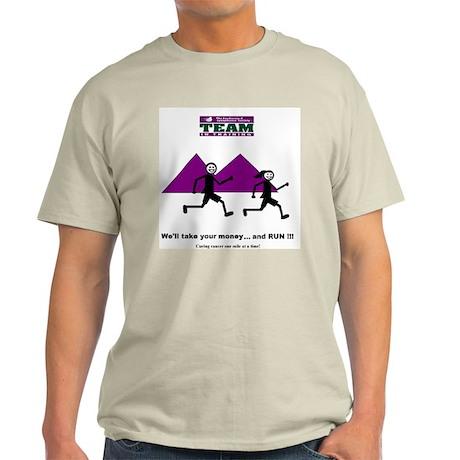 TNT Logo -- Take your money a Ash Grey T-Shirt