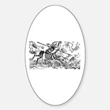 Calavera Don Quijote Oval Decal