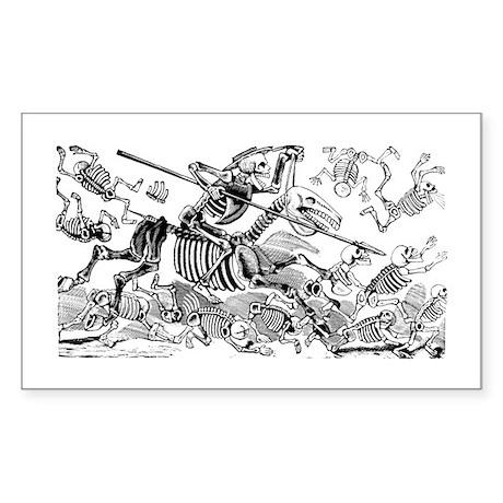 Calavera Don Quijote Rectangle Sticker