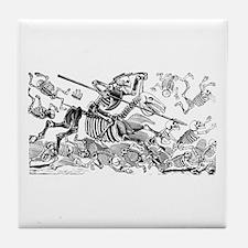 Calavera Don Quijote Tile Coaster