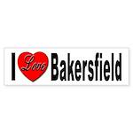 I Love Bakersfield Bumper Sticker (10 pk)