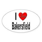 I Love Bakersfield Oval Sticker (10 pk)