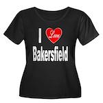 I Love Bakersfield (Front) Women's Plus Size Scoop