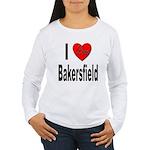 I Love Bakersfield (Front) Women's Long Sleeve T-S