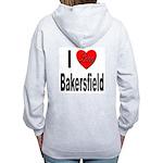 I Love Bakersfield (Back) Women's Zip Hoodie