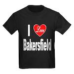 I Love Bakersfield (Front) Kids Dark T-Shirt