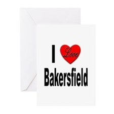 I Love Bakersfield Greeting Cards (Pk of 10)