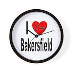 I Love Bakersfield Wall Clock