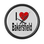 I Love Bakersfield Large Wall Clock