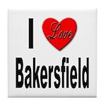 I Love Bakersfield Tile Coaster