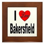 I Love Bakersfield Framed Tile