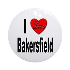 I Love Bakersfield Ornament (Round)
