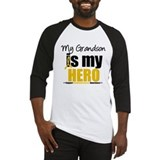 Childhood cancer awareness my hero is my grandson Long Sleeve T Shirts