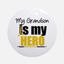 ChildhoodCancer Grandson Ornament (Round)