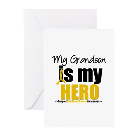 ChildhoodCancer Grandson Greeting Cards (Pk of 10)