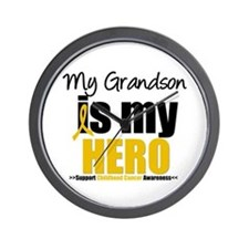 ChildhoodCancer Grandson Wall Clock