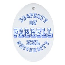 Property of Farrell University Oval Ornament