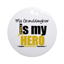 ChildhoodCancer Granddaughter Ornament (Round)