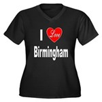 I Love Birmingham (Front) Women's Plus Size V-Neck