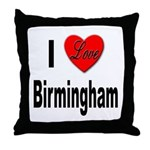 I Love Birmingham Throw Pillow