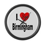 I Love Birmingham Large Wall Clock