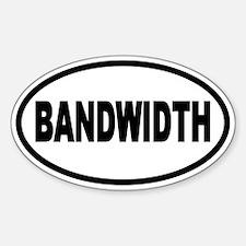 Bandwidth Oval Oval Decal