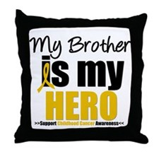 ChildhoodCancer Brother Throw Pillow