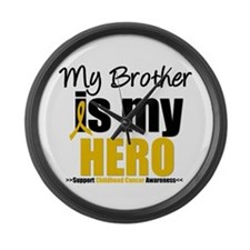 ChildhoodCancer Brother Large Wall Clock