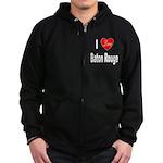 I Love Baton Rouge (Front) Zip Hoodie (dark)